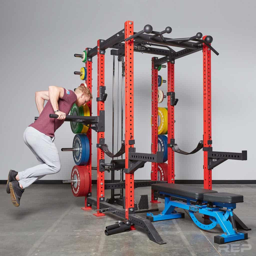 PR-4000 Power Rack used for dips