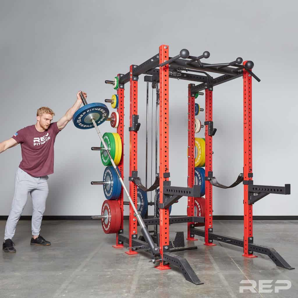 PR-4000 Power Rack with land mine attachment