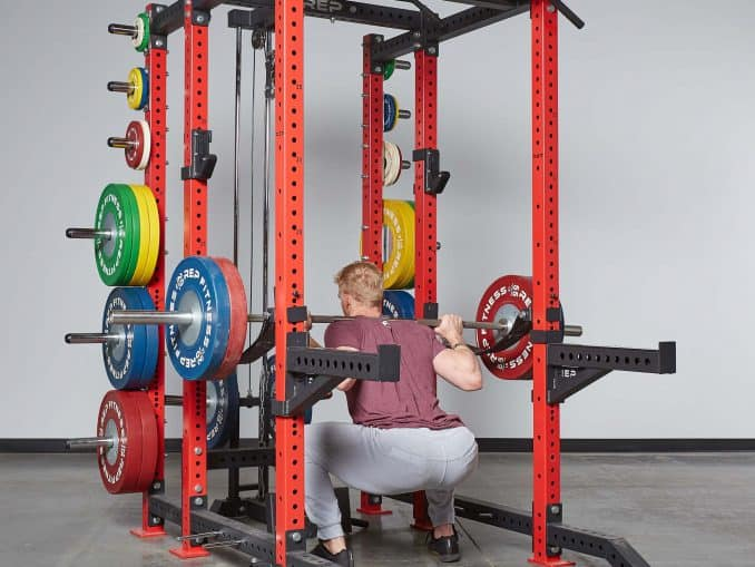 PR-4000 Power Rack used for squats