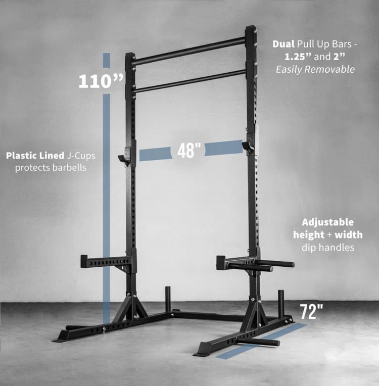 Rep Fitness SR-4000 Squat Rack - specifications