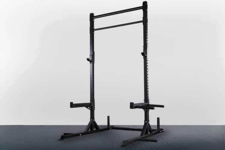 Rep Fitness SR-4050 Squat Rack - with band pegs, safeties, and two different pull up bars.