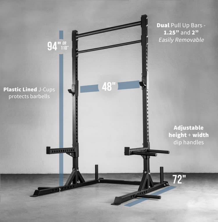Rep Fitness SR-4050 Squat Rack - specifications