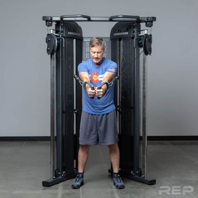 REP Fitness FT-3000 Compact Functional Trainer can do just about everything the bigger units can.