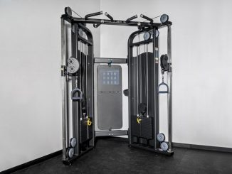 The Rep Multi-Grip Functional Trainer is an excellent cable machine with dual 220 lb weight stacks. This versatile machine can be used for a full body workout.