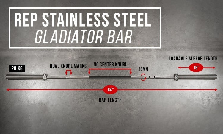 Gladiator WL Bar in Stainless specs