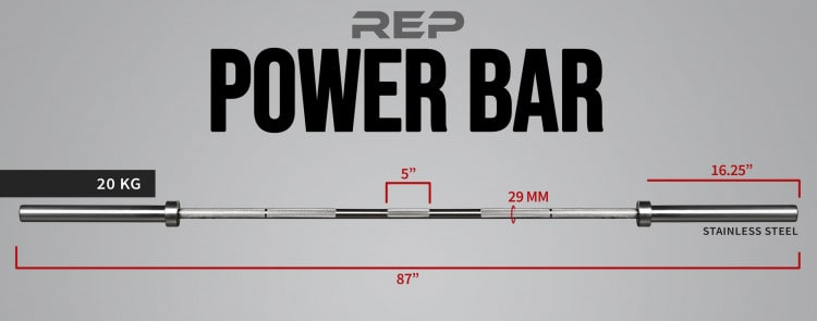 Rep Stainless Steel Power Bar Specs