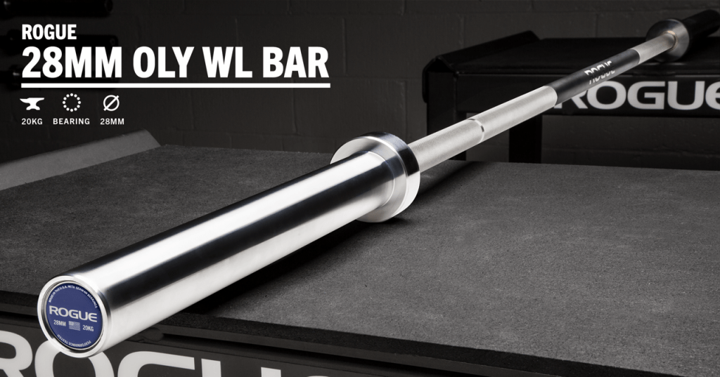 Olympic Weightlifting Barbell in Stainless Steel - Rogue Olympic WL Bar