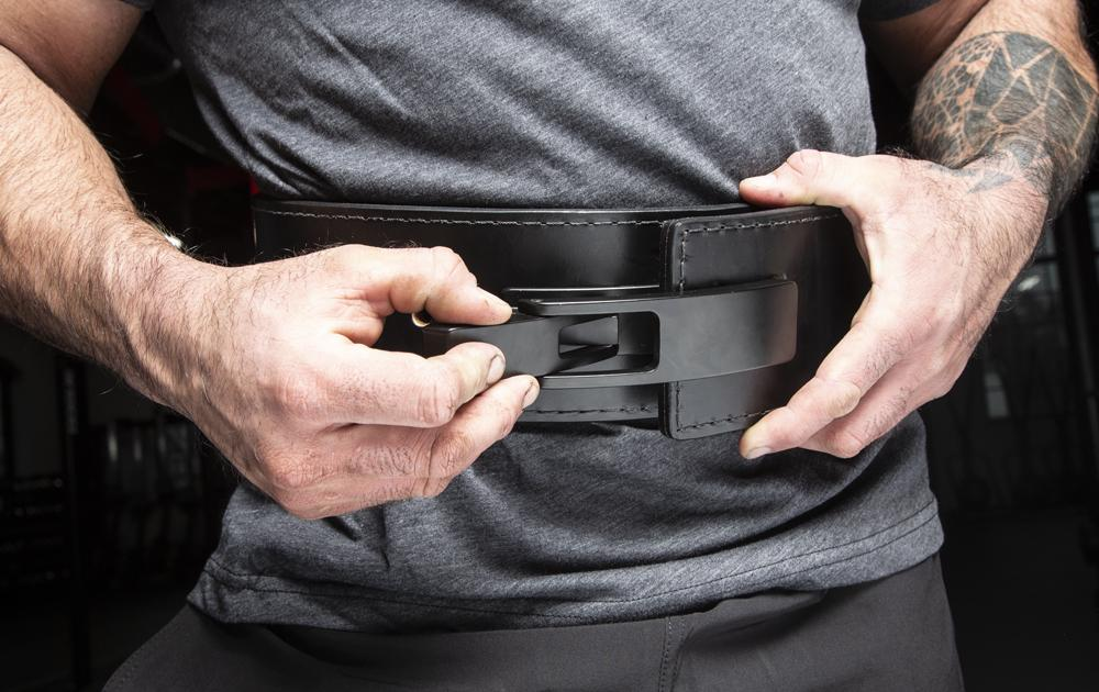 Rogue lever belt for powerlifting