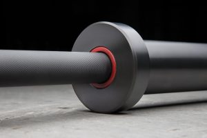Rogue Ohio bar with black on black cerakote, and red bushings - an MBF exclusive that is still available. Get them while they last.