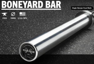 Rogue Fitness Boneyard Bar in 28mm shaft diameter weightlifting and training