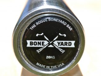 The Rogue Boneyard Bar Review - Boneyard bars get a special custom endcap. All are made in the USA, by Rogue Fitness.