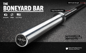 Boneyard bars are seconds quality bars - but new off the production line.
