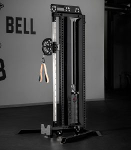 The Rogue Cable Tower CT-1 features a 250 lb weights stack with a 2:1 pulley ratio and is great for a wide range of cable machine exercises, including rows, curls, tricep pushdowns, cable crossovers, and more.