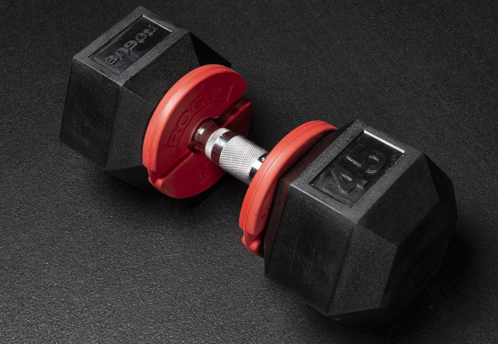 Add-on change plates for dumbbells