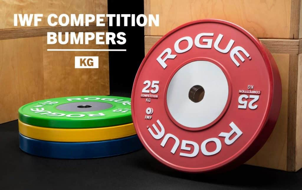 Rogue competition bumper plates iwf approved