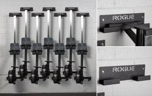 The Rogue Rower Hanger is an efficient, wall-mounted storage option for any Concept 2 Model D indoor rowing machine.  Whether you use a single rowing machine in a small training space or have multiple units in a larger gym, the Rower Hanger can have a huge impact on opening up floor space while also keeping the machines themselves safely and securely stored—and easily accessible.