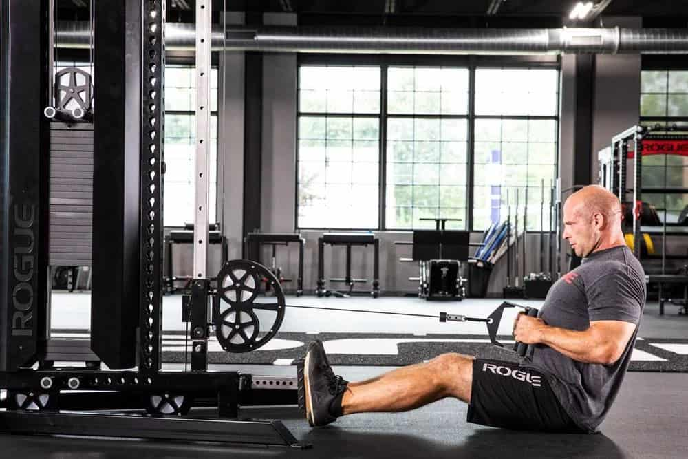 You can do seated rows with the Rogue CT-1 Cable Tower.