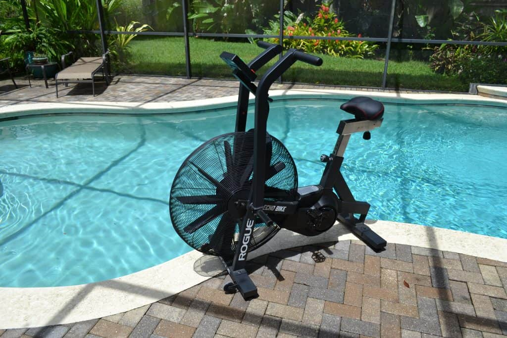 Rogue Echo Bike by the pool