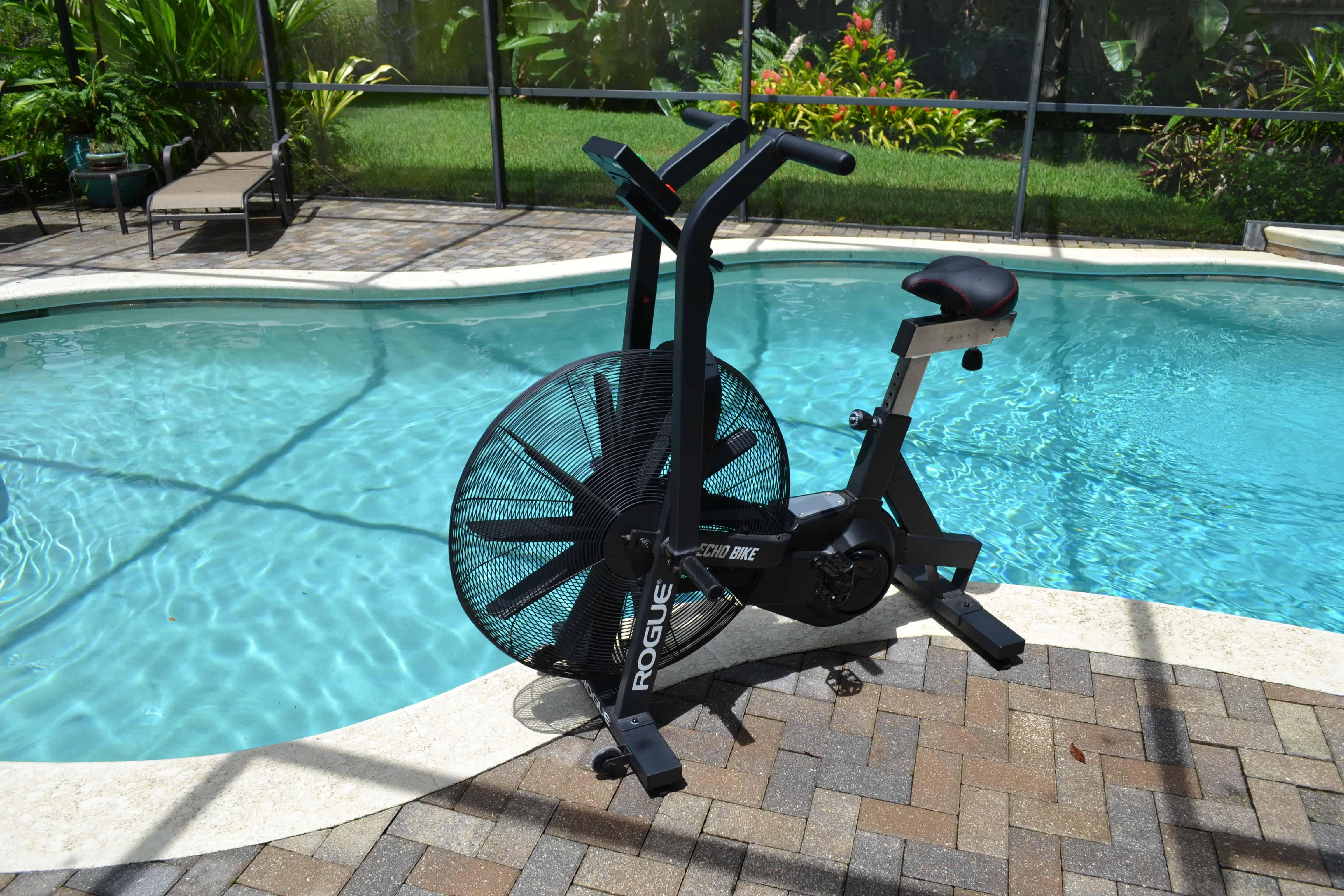 Rogue Echo Bike by the pool