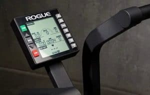 Closeup of the LCD Console of the monitor on the Rogue Echo Bike