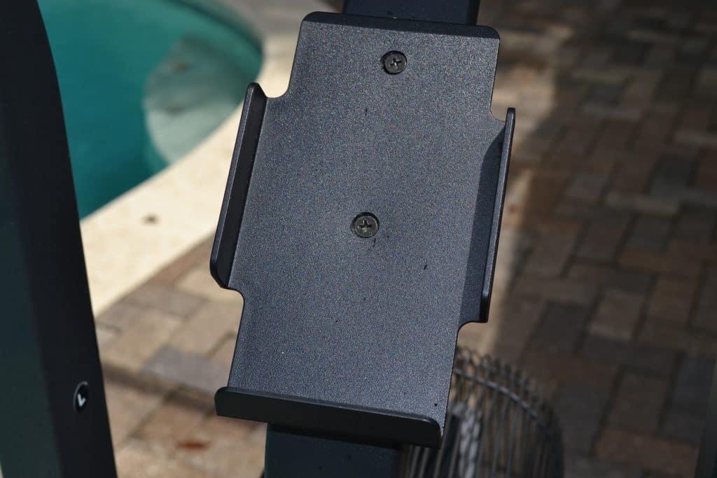 Optional phone holder for the Echo bike.