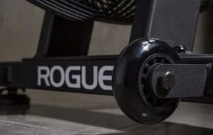 "The Rogue Echo Bike has 1"" poly wheels which allow you to quickly and easily reposition this equipment. Great for home and garage gyms."