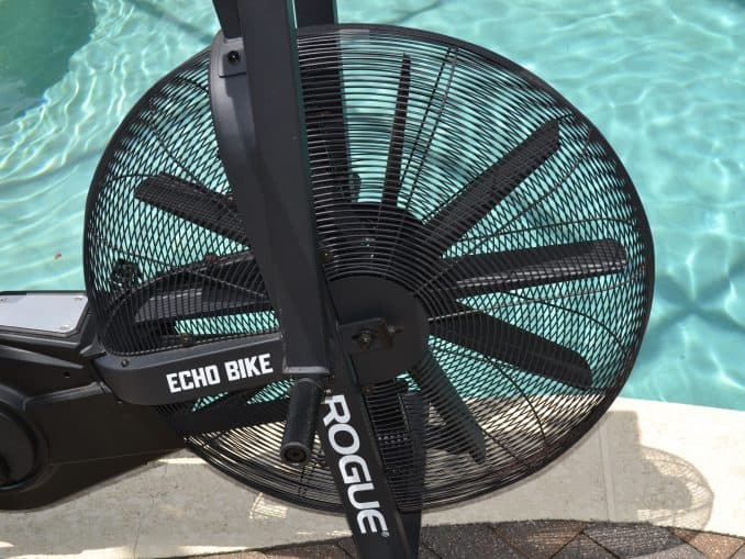 The Rogue Echo Bike has ten fan blades - and they aren't small.