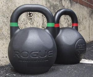Competition kettlebells are manufactured more accurately than regular kettlebells.  They are also the same general dimensions - to ensure you can use consistent technique for different weights.