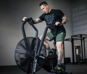 The Rogue Echo Bike can be used for stead state cardio, HIIT intervals, heart rate training, and more.