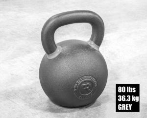 Rogue Fitness Kettlebell - Grey - 80 lbs