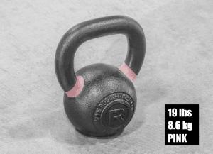Rogue Fitness Kettlebell - Pink - 19lbs