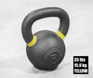 Rogue Fitness kettlebell - yellow - 35 lbs