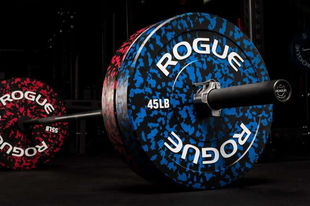 Rogue Fleck Plates are Bumper Plates that look good