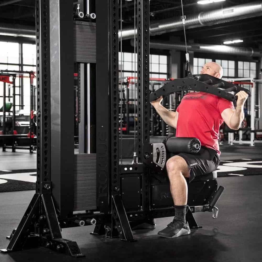Rogue LP-2 Low Row and Lat Pulldown machine