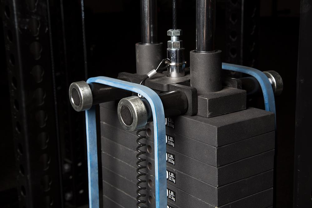 The Rogue Monster Lat Pulldown has band pegs
