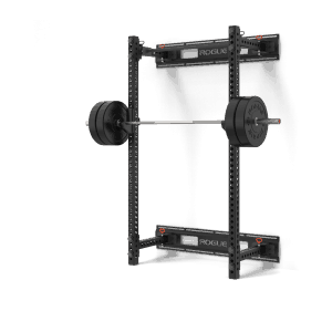 "The Monster Series version of the Rogue Wall-Mount Fold Back Rack features two 3x3"" 11-gauge steel uprights"