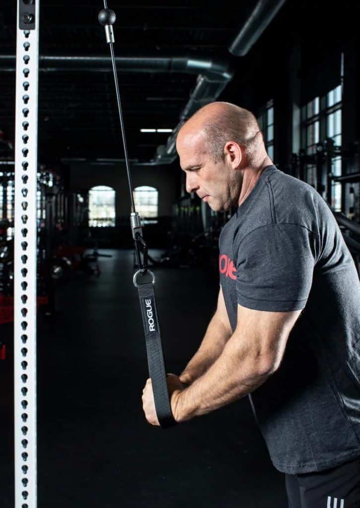 Rogue Monster Slinger is a great option for tricep pushdowns.