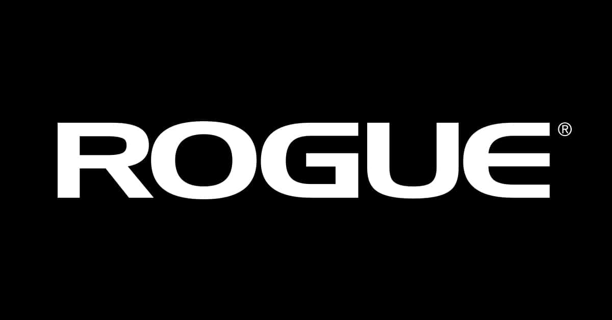 Rogue Fitness logo - American manufacturer and distributor of strength and conditioning equipment, including weightlifting bars, plates, racks and other fitness related equipment for CrossFit boxes, garage gyms, military units, collegiate, and professional sports teams