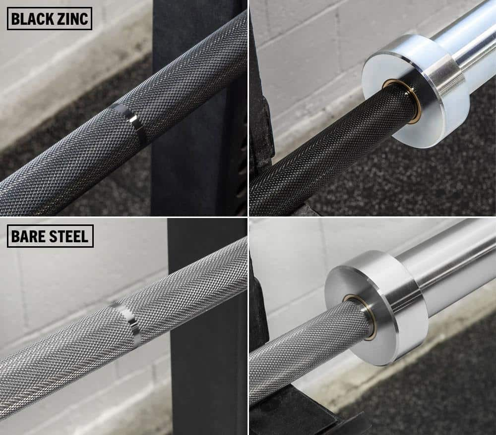 The Rogue Ohio Power Bar is available in Stainless Steel, Black Zinc, and Bare Steel