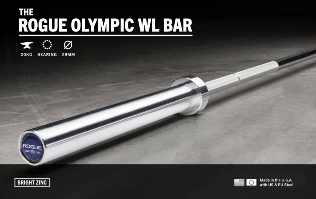 Rogue Olympic WL Bar - a bearing bar for Olympic weightlifting.