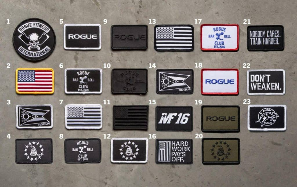 Rogue's selection of velcro patches for your tac hat or plate carrier