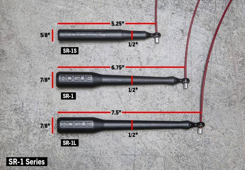 Rogue SR-1 Speed Rope is available in 3 handle options, Short, Long or regular.