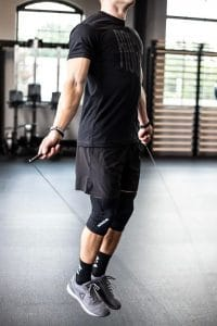 Speed Ropes - Rogue Fitness SR-343 Mach Speed Rope - most advanced jumping rope offered by Rogue Fitness - incredible spin up to 10x better than their other models.  Best speed rope for double unders in CrossFit?