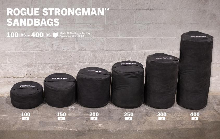 Rogue Fitness makes the biggest sandbags - the strongman training line can go to 400 lbs!