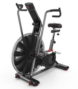 With the Airdyne AD Pro, Schwinn has developed its most complete all-purpose stationary bike to date—with a perimeter-weighted flywheel design, powerful solid steel cranks, and doubled-coated steel body construction.