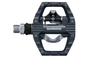 Shimano's multi-purpose PD-EH500 is a dual-sided replacement bicycle pedal with an SPD step-in design on one side and a traditional flat platform on the other