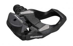Shimano's single-sided PD-RS500 replacement pedal offers riders a large entry target with lighter spring tension than comparable SPD-SL pedals. The quality construction includes a durable stainless steel body plate (to reduce flex and wear) and an extra-wide platform for a more efficient transfer of pedaling power.