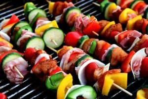 Paleo friendly foods - shish kebab