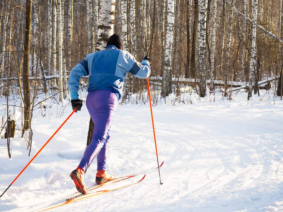Winter workout? Skiiing is great!