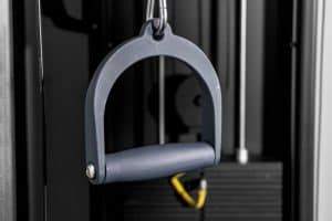 Cable handle from a functional trainer